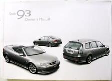 SAAB 93 for 2007 #ENG MY2007 32 000 713 Original Owners Car Handbook