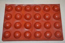 Maé 105ml Silicon LARGE DOME - HALF SPHERE Flan Cake Pastry * 24 Molds Flexipan