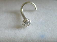 Piercing-Schmuck aus Sterlingsilber mit Zirkonia-Perlen