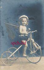 Original Foto /  Mädchen auf Kinder Dreirad Hochrad