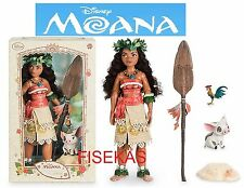 "Disney Princess Limited Edition Collector Moana Doll 16"" 2016 Pua HeiHei New"