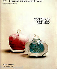 Catalogue de vente Art Nouveau 1900 Deco 1974 ceramique mobilier sculpture Galle
