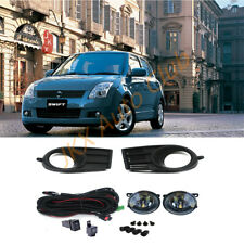 For Suzuki Swift 2005-2007 Bumper Bezels LED Bulb Light Fog Switch Wiring k Kit