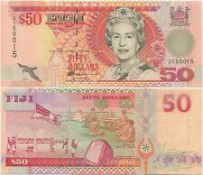Fiji 50 Dollars 1996 UNC P-100b, QEII, sign. Narube, scarce