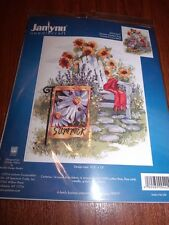 Janlynn Pretty SUMMER GARDEN FLAG Counted Cross Stitch Kit 10.5 x 13""