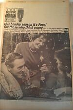DEC 21, 1961 NEWSPAPER PAGE #J5883- PEPSI-COLA- THIS HOLIDAY SEASON IT'S PEPSI