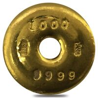 1 oz Chinese Gold Doughnut Bar .9999 Fine