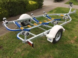 Precision Boat Trailer Drive On Galvanised 5.6mt suit 17ft boat, sale now on