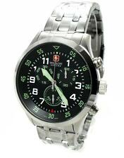 SWISS MILITARY HANOWA 06-5263.04.007.06 CHRONOGRAPH Edelstahl Swiss made WOW NEU