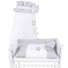 Baby Wiegenset / Beistellbettset Bettwäsche Himmelset Nestchen Applikation