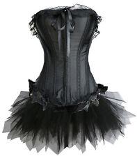 Corsage Kleid Mini Rock Petticoat tütü schwarz Wäschebeutel