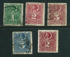 5 used Stamps - Chile 1878-86 1894