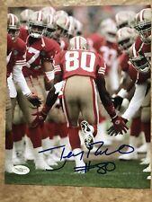 Jerry Rice San Francisco 49ers Autographed Signed 8x10 Photo JSA Cert
