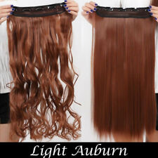 US 100% Natural Half 3/4 Full Head 120g Clip in Hair Extensions Ombre TMJ