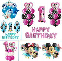 Mickey Minnie Mouse Birthday Balloons Disney Rainbow Confetti Balloons Party