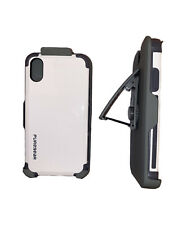 For iPhone X / XS by PureGear Dualtek Case Hip Holster + Glass Screen Protector