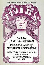 "Stephen Sondheim ""FOLLIES"" Alexis Smith / Yvonne De Carlo 1972 Book Club Flyer"