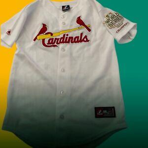 St.Louis Cardinaux Jeune Grand Blanc Baseball Jersey Patch Vacances #7 USA