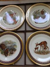 Woodland Wildlife Boehm 4 Pc Plate By Lenox With Certificates