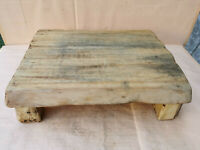 OLD ANTIQUE PRIMITIVE WOODEN WOOD BREAD BOARD DOUGH PLATE TABLE SERVING TRAY