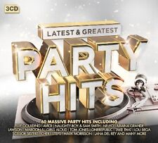 PARTY HITS-LATEST & GREATEST LATEST & GREATEST Avicii, Maroon5,Cher 3 CD NEUF