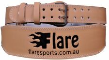 Flaresports Weight Lifting Gym Belt Support Training Back Power leather 4''