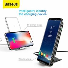 Baseus 10W Qi Wireless Charger Pad Phone Holder Dock for Samsung S10 iPhone XR