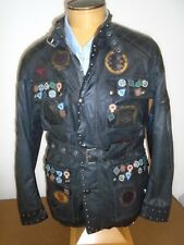85be9dab48 Belstaff Winchester Black Belted Motorcycle Jacket NWT EU 48 USA Medium  $2895
