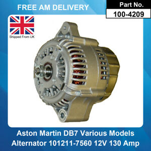 Alternator For Aston Martin DB7 3.20 1994-1999 AJ6HT Coupe Supercharged