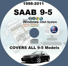 SAAB 9-5 1998-TO-2011 WIS ALL MODELS MASTER WORKSHOP SERVICE MANUAL SYSTEM CD