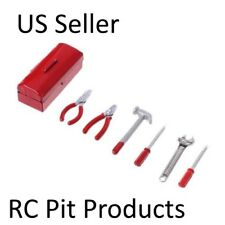 RC 1/10  Scale Truck  Accessories Red Metal TOOL BOX  w/ TOOLS  US Seller