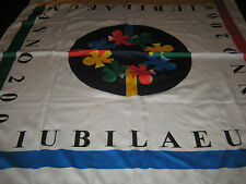 Iubilaeum Anno Jubilee Year 2000 Olympics Scarf Green Yellow Blue Italy 33X34