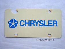 *CHRYSLER Vanity Plastic Vintage License Plate