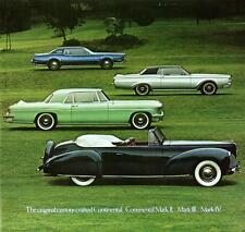 Old Print. The Lincoln Continental Mark II, III, IV Auto Ad