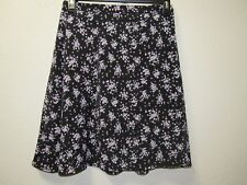 Woman's plus size 26/28W black floral skirt from Fashion Bug