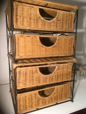 Small basket of two drawers. Two sets. Storage.