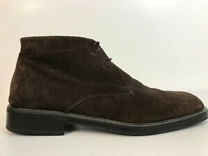 Salvatore Ferragamo Mens Pioneer Ankle Boots Size 11 D Brown Suede Chukka