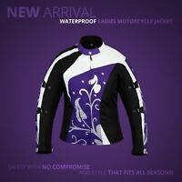 NEW LADIES WOMEN TEXTILE WATERPROOF MOTORBIKE MOTORCYCLE JACKET COAT CE ARMOUR