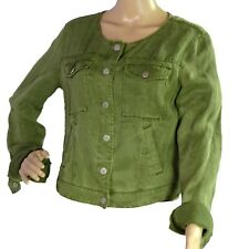 SANCTUARY ANTHROPOLOGIE Green Trucker Jacket Size SMALL