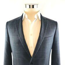 Theory Wellar Gray Windowpane Slim 2 Button Suit Jacket Sport Coat Mens 42R NWOT