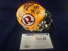 70 GREATEST Redskins Signed Auth Mini Helmet W/14 Autographs SCH #27884 Auth