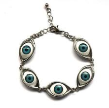 Evil Eye Silver Tone Bracelet Creepy/Goth/Alternative/Nineties/Quirky/Gothic