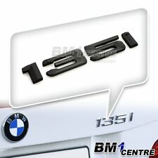 MATTE BLACK BMW 135I REAR BOOT EMBLEM BADGE FOR 1 SERIES E81 E82 E87 E88 F20 F21