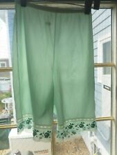 sz 6 vtg S 50's Lavish Dbl Nylon Gusset Kayser Pin Up Panties long leg chiffon S