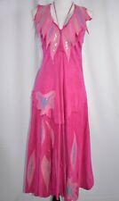 Natasa Leder Fashion Leather Sz Medium Suede Pink Dress Jeweled Party Asymmetric