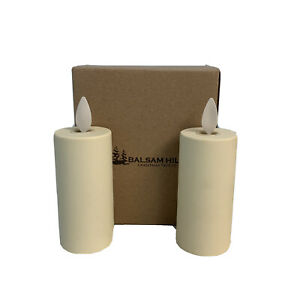 Balsam Hill Luminara Votive Candle Set Real Flame Battery Powered 2-Pack NEW