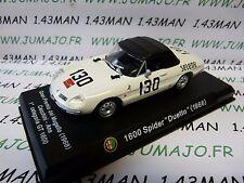 voiture 1/43 ALFA ROMEO : 1600 spider duetto 1966 blanche