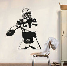 Vinyl Wall Decal Sticker Aaron Rodgers Green Bay Packers Wall Art Decor Poster