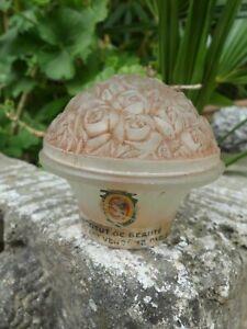 Flacon à Parfum ancien crème velour KLYTIA n°347 Lalique ? Institut de beauté