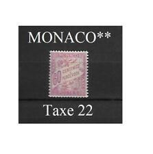 Timbre taxe MONACO   TT22**